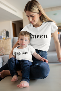 Queen Pince Shirts, Mommy and Me, Matching Shirt, Matching Mommy and Me Outfit, Pregnancy Tee,Mom and Son Shirts, Mom of Boys, Queen Prince