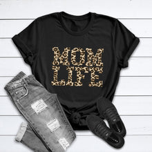 Load image into Gallery viewer, Leopard Mama Shirt, Mama Shirt, Shirt for Mom, Mom Shirt, Mom Life Leopard Shirt, Leopard Shirt, New Mom Shirt, Leopard Mom Shirt, Mom Gift