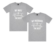 Load image into Gallery viewer, Wife Husband Shirts, Mr and Mrs, Just Married Shirt, Honeymoon Shirt, Wedding Shirt, Wife & Hubs Shirts, Just Married Shirts, Couples Shirts