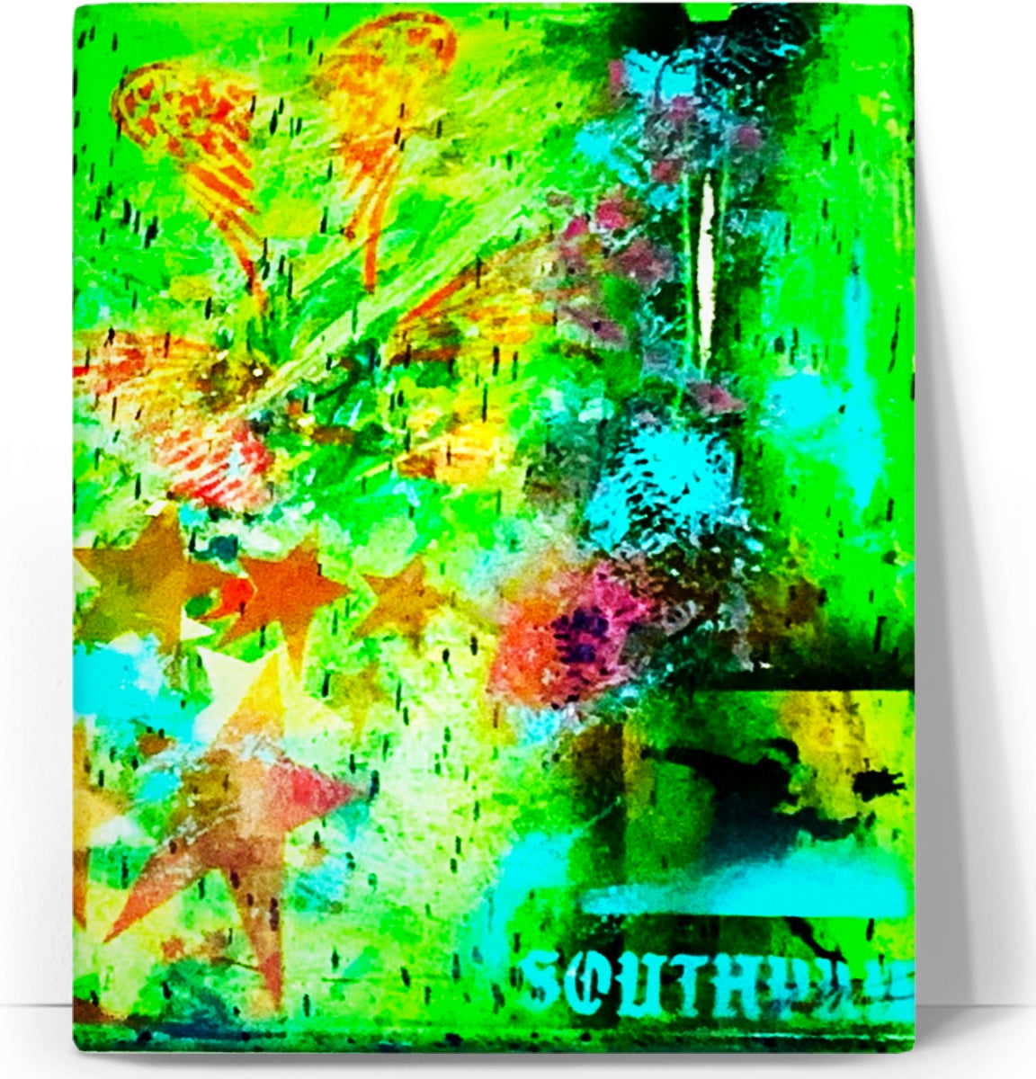 "LeftyCo - SouthPawbyNM ~ ""Monster Rockstar"" art canvas"