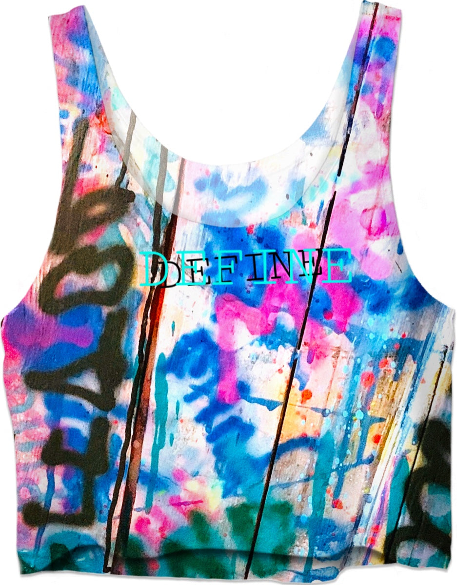 "SouthPawbyNM ~ DEFINE ""body & mind"" Crop Top - leftyco"