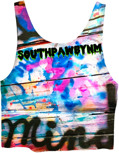 "SouthPawbyNM ~ DEFINE ""body & mind"" Crop Top"