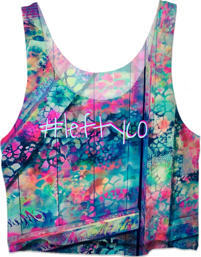 "LeftyCo ~ ""Flower Child #1"" (crop top) - leftyco"