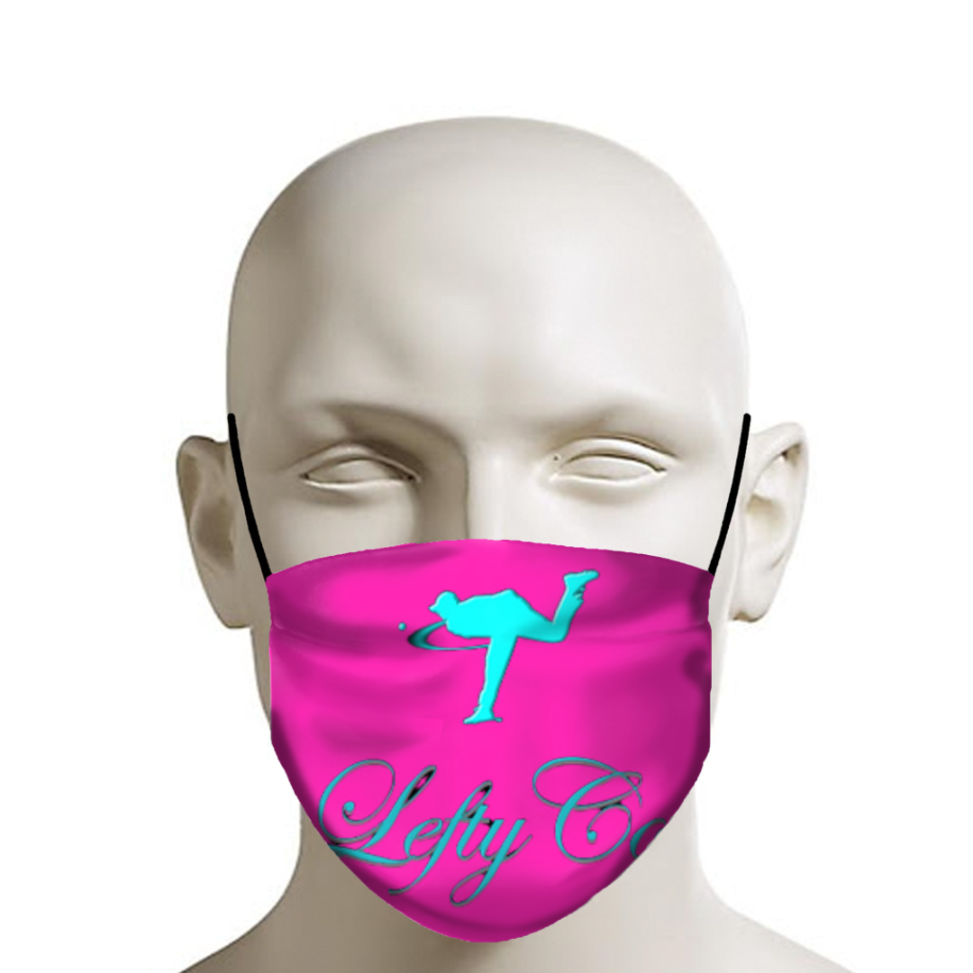 "LEFTYCO - ""AquaPink Logo Mask"" - leftyco"
