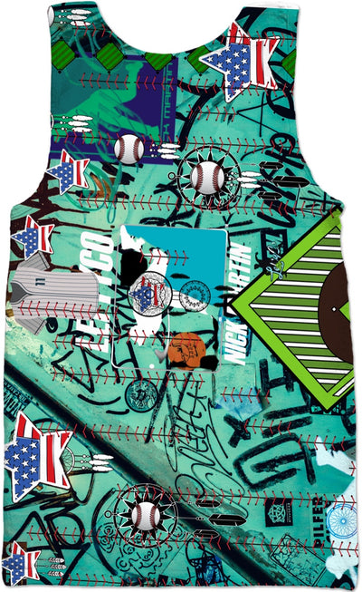 "LeftyCo ~ ""Graffiti Green"" TankTop - leftyco"