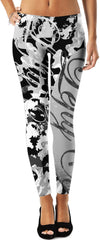 LeftyCo ~ 813 PALM TREES (white/black) leggings