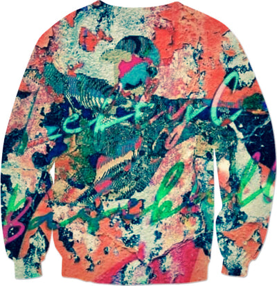 LeftyCo ~ CONCRETE GRAFFITI COLLECTION orange 817 sweatshirt - leftyco