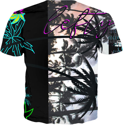 LeftyCo ~ 823 PALM TREE t-shirt
