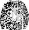 LEFTYCO ~ FESTIVAL CAMO (black/white) sweatshirt