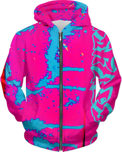 LEFTYCO ~ COTTON CANDY ACID DRIP'd hoody