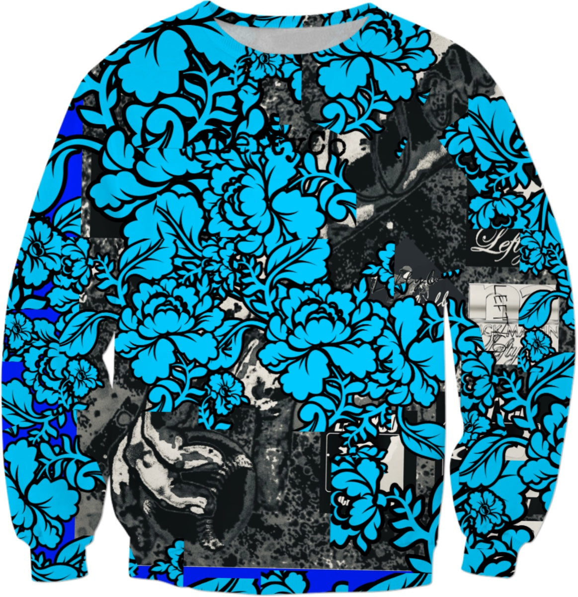 LEFTYCO ~ 11521 Blue Drip sweatshirt