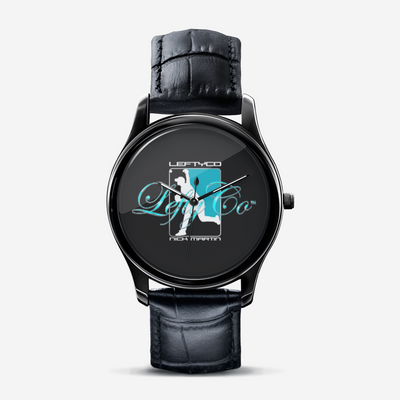 LeftyCo Classic Fashion Print Black Quartz Watch - leftyco