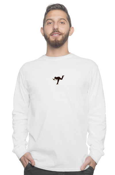 LEFTYCO ~ gildan White long sleeve tee #1 - leftyco