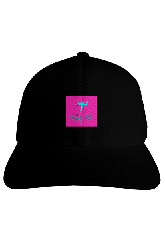 LEFTYCO ~ Black/Pink fitted Hat - leftyco