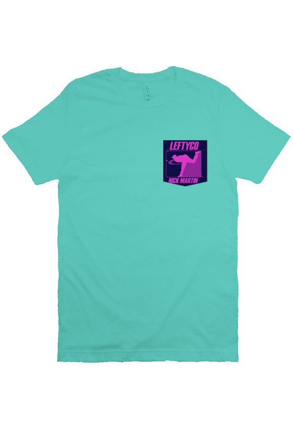 LeftyCo - 718 Teal Pocke T Shirt - leftyco