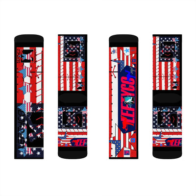 "LeftyCo - ""Stars & Stripes 2020"" Crew Practice Socks - leftyco"