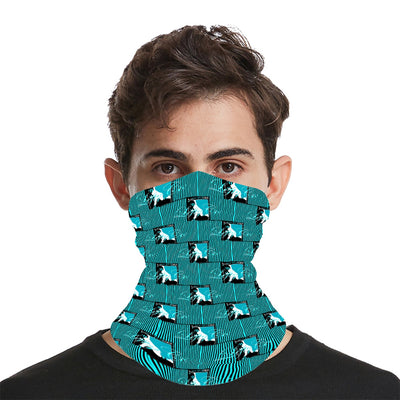 LeftyCo - 812 Electric Teal/Black Pinstripes Facemask - leftyco