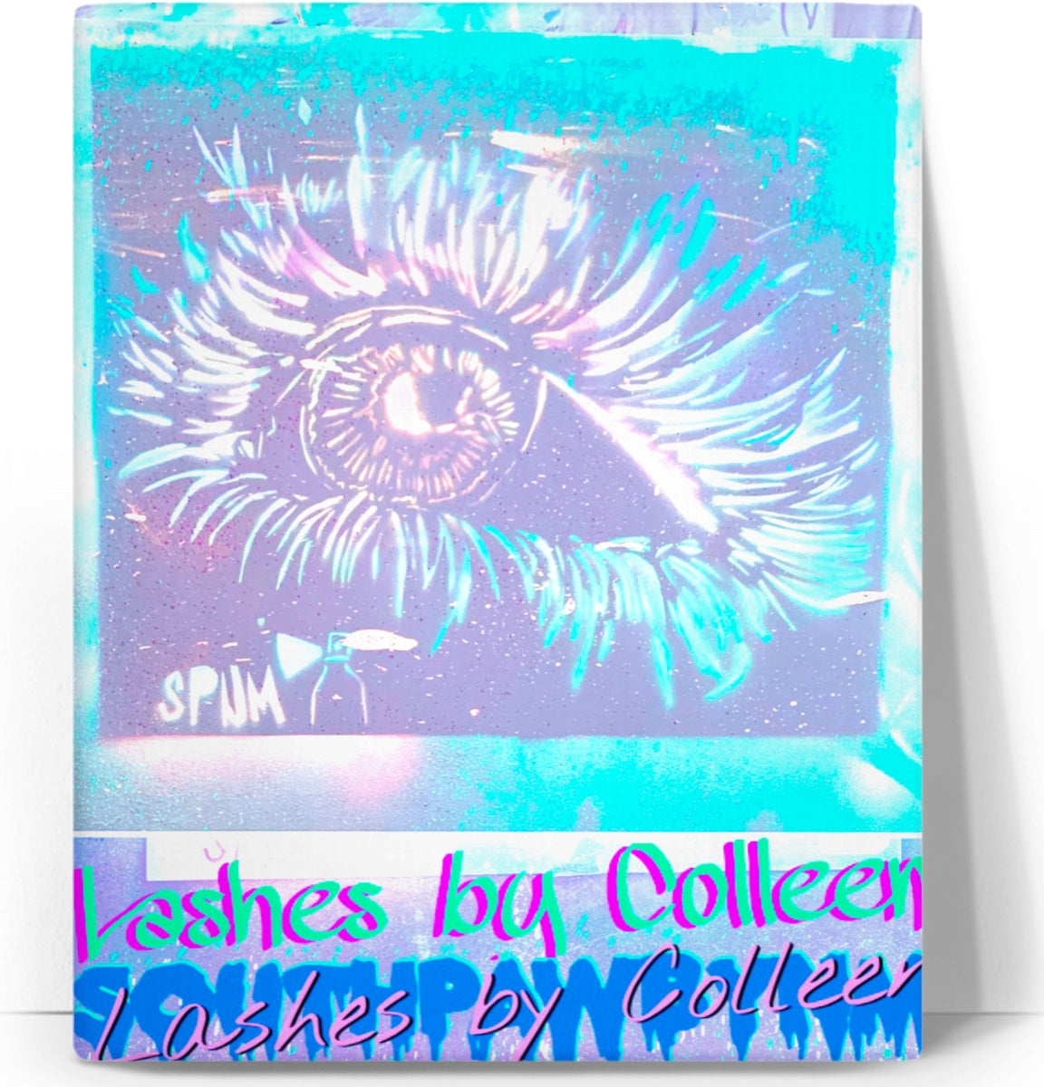 "LeftyCo ~ ""Lashes by Colleen"" canvas art"