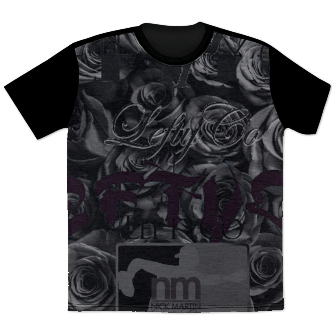 LeftyCo - 725 BlackRose T-shirt - leftyco