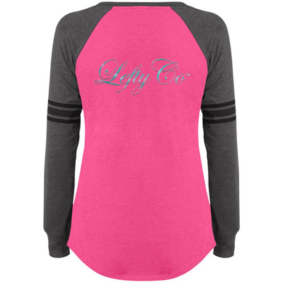 LeftyCo - 814 Ladies' Game LS V-Neck T-Shirt - leftyco