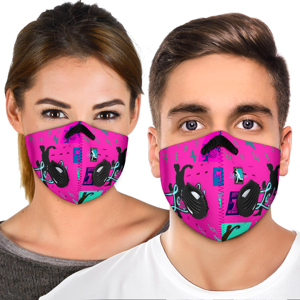 LeftyCo - Pink Logo'd Premium Face Mask