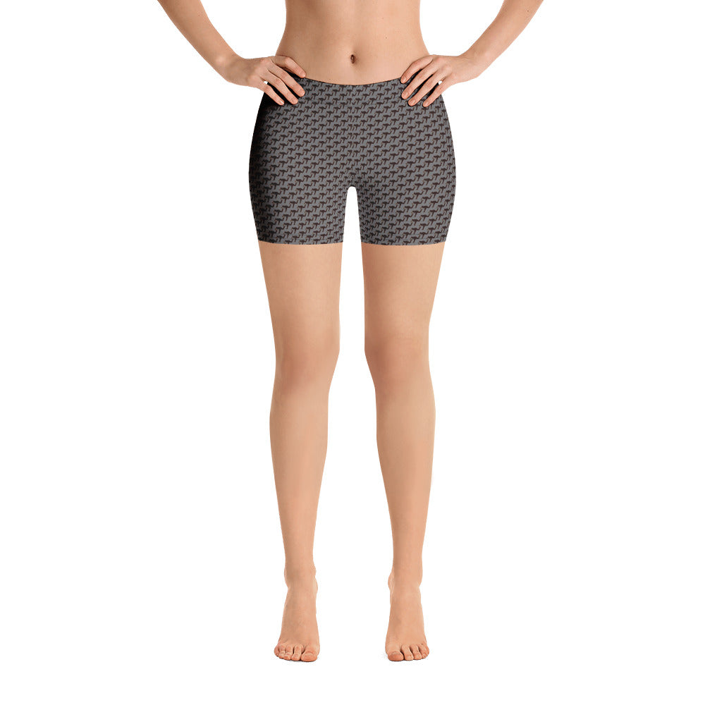 "LeftyCo - Womens Fitness Shorts ""follow thru pattern"" - leftyco"