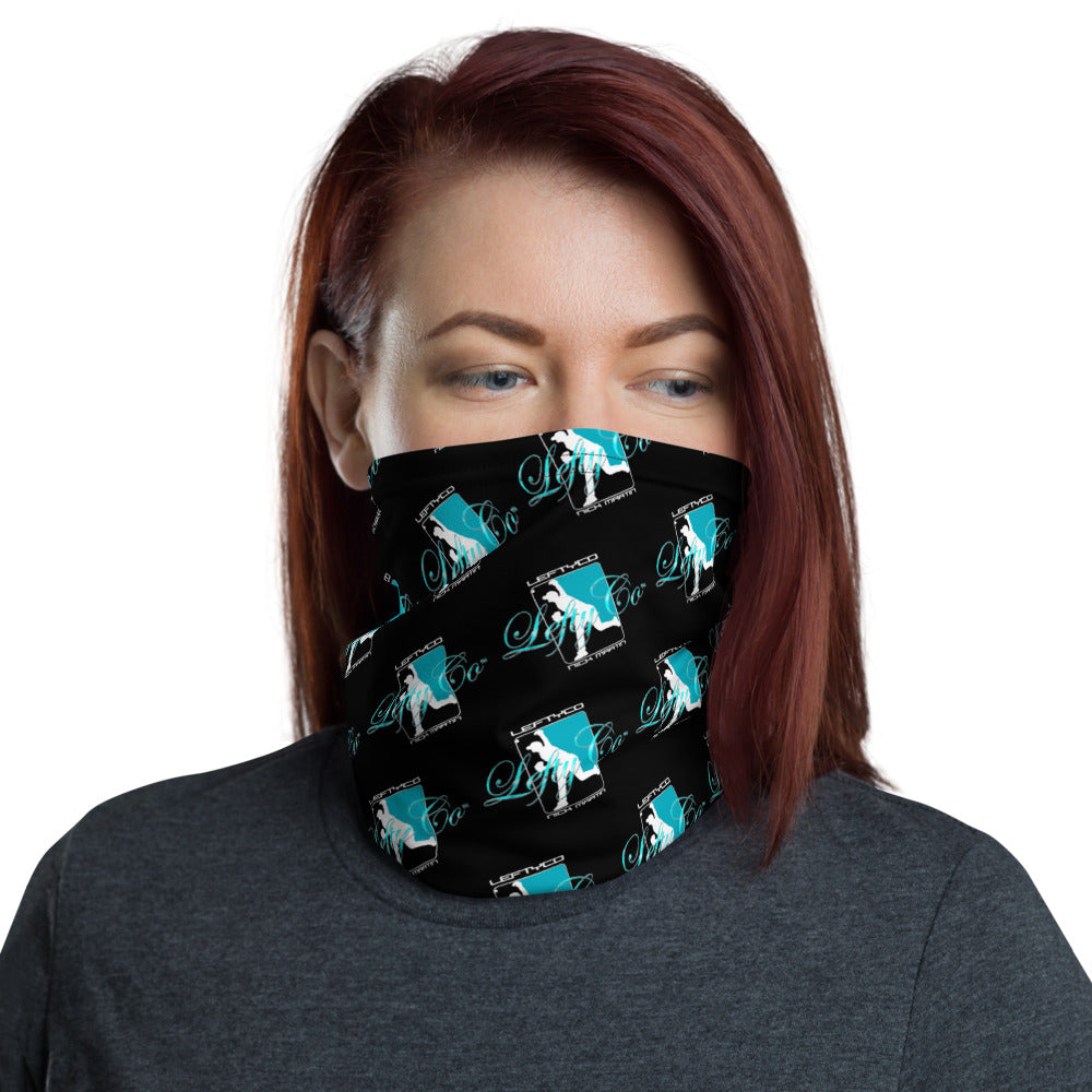 LeftyCo Black/Teal Neck Gaiter - leftyco