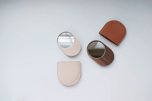 Handmade Walnut & Leather Pocket Mirror