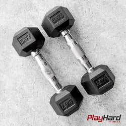 Hex Dumbbells - KG (Sold in Pairs) - PlayHard Fitness