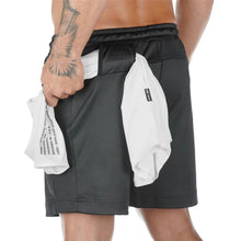 Load image into Gallery viewer, Running Quick dry Shorts Mens Gym Fitness Sports Bermuda Jogging Training Short Pants Summer Male Multi-pocket Beach Sweatpants