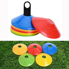Load image into Gallery viewer, 10pcs/set High quality football training drill marker cones sports accessories