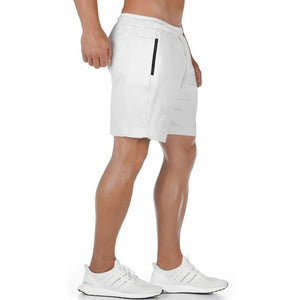 Running Quick dry Shorts Mens Gym Fitness Sports Bermuda Jogging Training Short Pants Summer Male Multi-pocket Beach Sweatpants