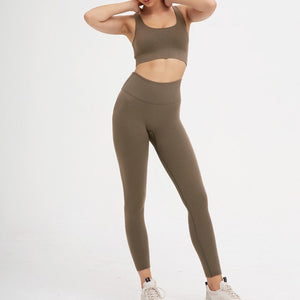 2 Piece Set Workout Clothes for Women Gym Sports Bra and Yoga Leggings Set