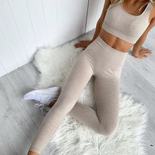 Load image into Gallery viewer, 2 Piece Set Workout Clothes for Women Gym Sports Bra and Yoga Leggings Set
