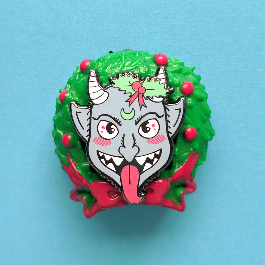 Cute Krampus Enamel Pin
