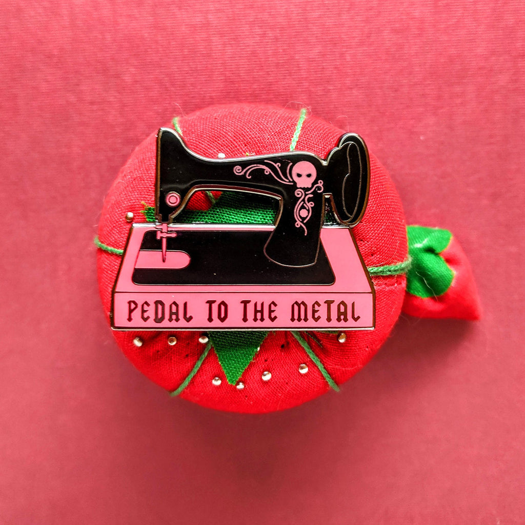 Pedal to the Metal Enamel Pin