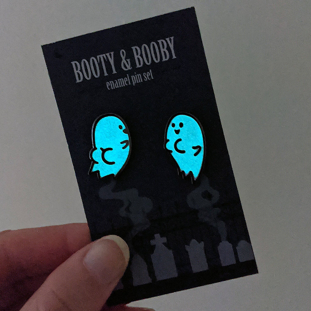 Ghost Enamel Pin Set