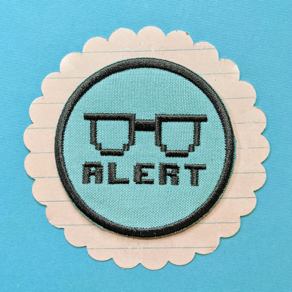 Nerd Alert Iron on Patch