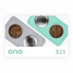 Ono Digital Gift Card / Self-Suctioning, Spill-Proof Silicone Pet Bowls by Ono