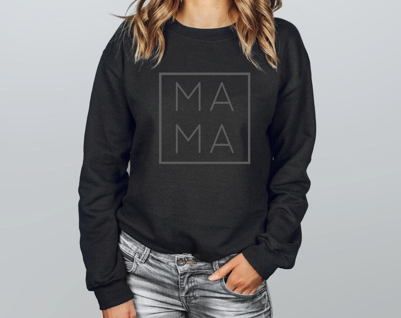 Square Mama Black Sweater