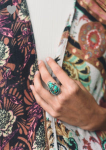 Raindrop Turquoise Ring - [product_type