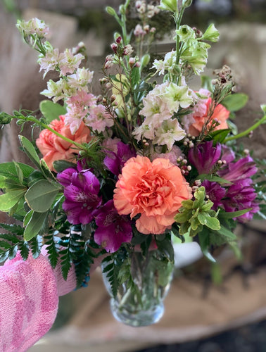 Mixed Carnations, Alstroemerias, and Lark Bouquet - [product_type