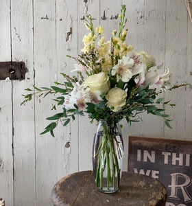 Soft Yellow and White Mix Bouquet - [product_type
