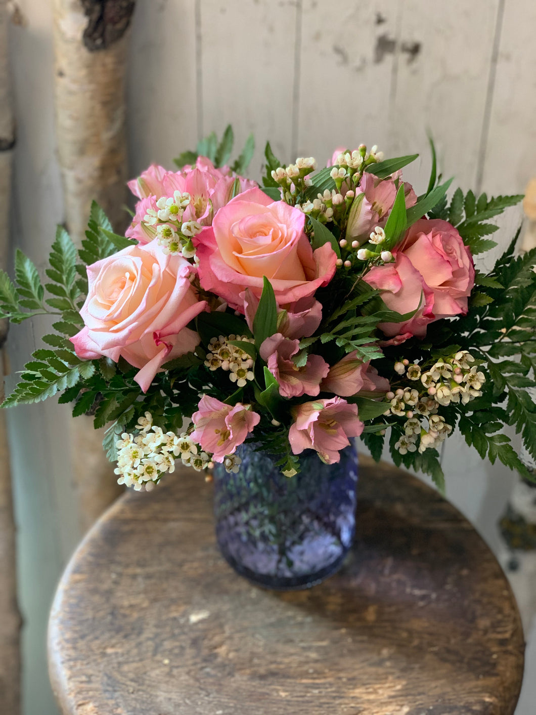 Pretty Spring Pinks Vase - Farm Town Floral & Boutique