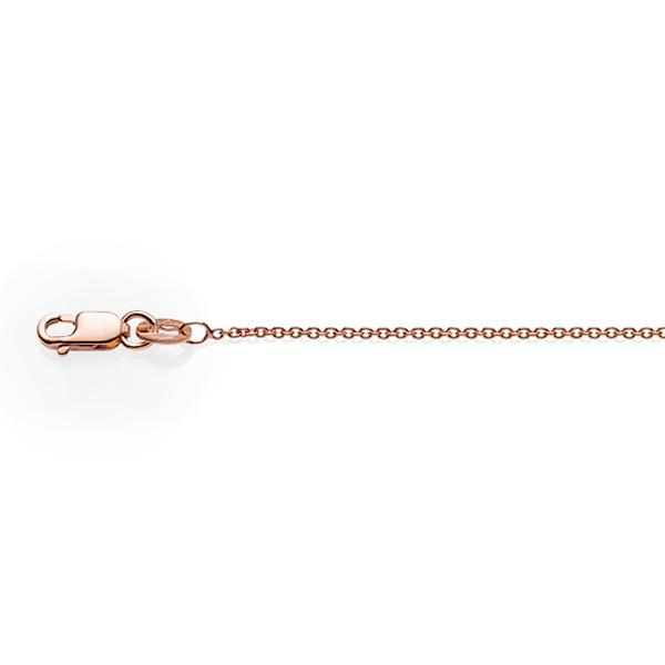 1.61gm 9ct Rose Gold 30 Gauge Cable Chain 45cm
