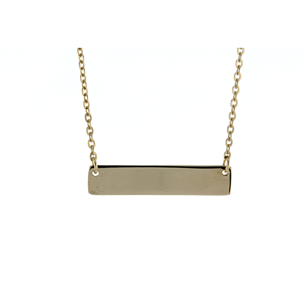 9ct 45cm ID Plate Necklace