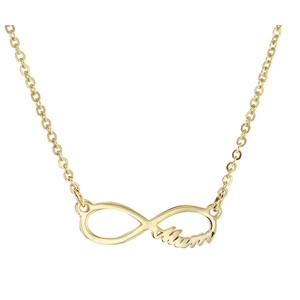 9ct 45cm Infinity with Mum Necklace