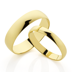9ct gold 4mm Half Round Wedding Band