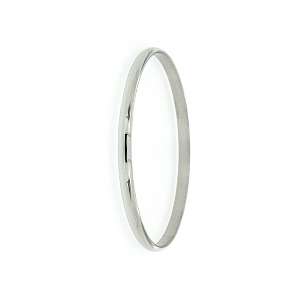 Sterling Silver 4mm 65mm Solid Bangle