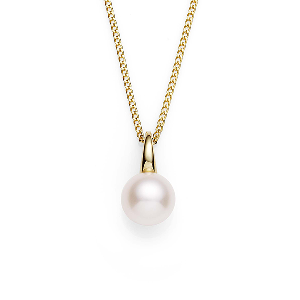 9ct Yellow Gold Freshwater Pearl Slider Pendant